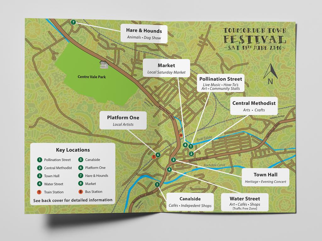Todmorden Festival Leaflet Design
